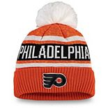 Women's Fanatics Branded Orange Philadelphia Flyers Fan Weave Cuffed Pom Knit Hat