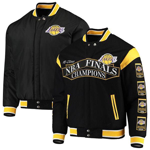Men S Jh Design Black Los Angeles Lakers Commemorative Championship Reversible Jacket