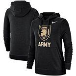 Women's Nike Black Army Black Knights Team Club Pullover Hoodie