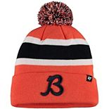 Men's '47 Orange Chicago Bears Traditions Breakaway Cuffed Knit Hat With Pom
