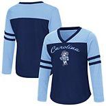 Girls Toddler Colosseum Carolina Blue North Carolina Tar Heels Bobo Long Sleeve V-Neck T-Shirt