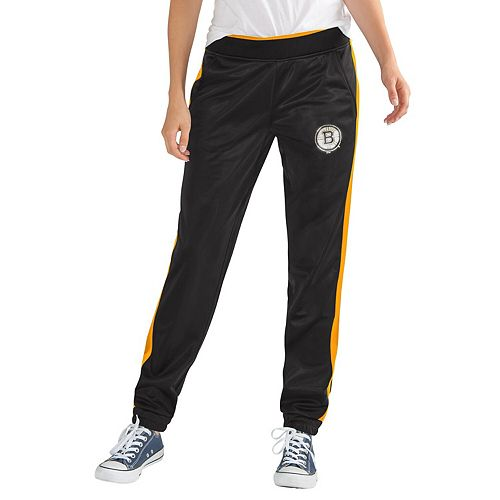 Women's G-III 4Her by Carl Banks Black Boston Bruins Progression Track Pants
