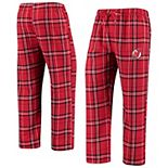 Men's Concepts Sport Red/Black New Jersey Devils Hillstone Flannel Pants