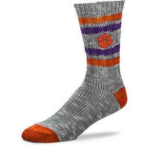 Women's For Bare Feet Clemson Tigers Alpine Tweed Crew Socks