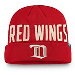 Men's Fanatics Branded Red Detroit Red Wings True Classics Cuffed Knit Hat