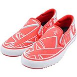 Men's Red Houston Rockets Slip-On Canvas Shoes