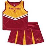 Girls Toddler Colosseum Cardinal/Gold Iowa State Cyclones Pom Pom Cheer Set