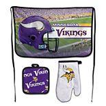 WinCraft Minnesota Vikings 3-Piece Barbecue Set