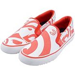 Men's Red Atlanta Hawks Slip-On Canvas Shoes