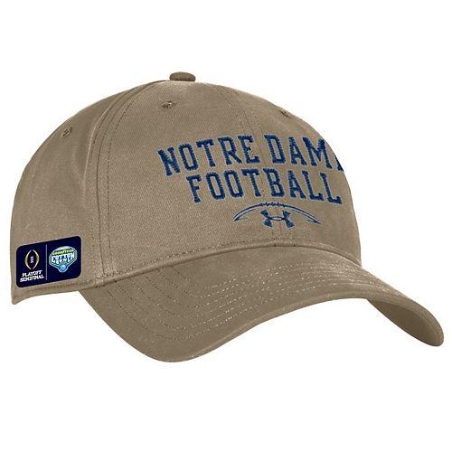 Men's Under Armour Khaki Notre Dame Fighting Irish College Football Playoff 2018 Cotton Bowl Bound Chino Soft Adjustable Hat