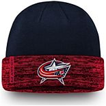 Men's Fanatics Branded Navy/Red Columbus Blue Jackets Authentic Pro Rinkside Cuffed Knit Hat