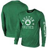 Boston Celtics Majestic Threads Tri-Blend Long Sleeve T-Shirt - Kelly Green