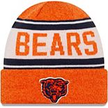 Youth New Era Orange/White Chicago Bears Stated Cuffed Knit Hat