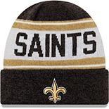 Men's New Era Black New Orleans Saints Knit Stated Cuffed Knit Hat