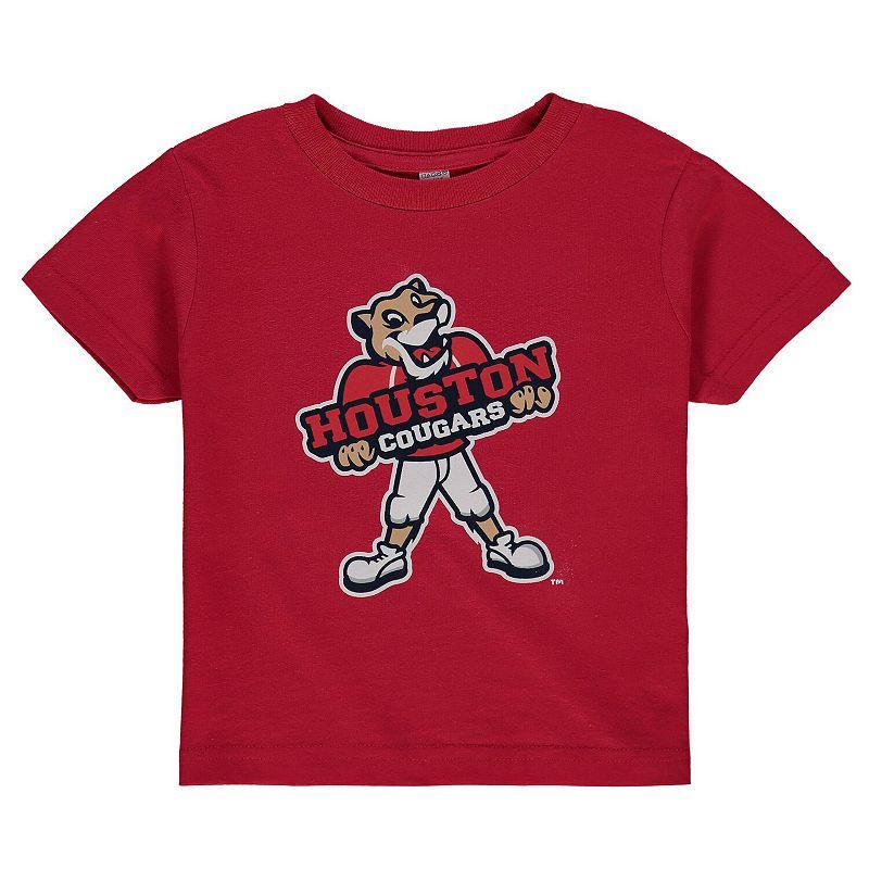 Toddler Red Houston Cougars Big Logo T-Shirt. Toddler Unisex. Size: 2T