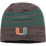 Men's adidas Gray/Green Miami Hurricanes Three Stripe Knit Hat