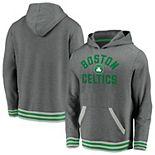 Men's Fanatics Branded Gray Boston Celtics True Classics Vintage Upperclassman Pullover Hoodie