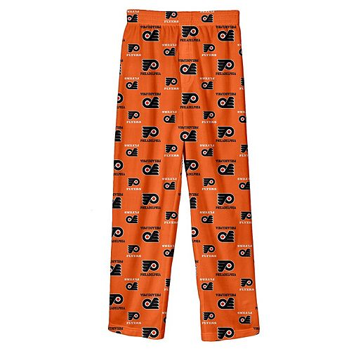 Youth Orange Philadelphia Flyers Team Logo Printed Pajama Pants