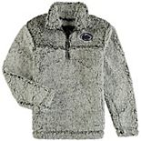 Girls Youth Gray Penn State Nittany Lions Sherpa Super-Soft Quarter-Zip Pullover Jacket