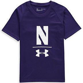 Youth Under Armour Purple Northwestern Wildcats Sideline Tech T-Shirt