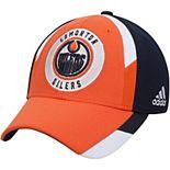 Men's adidas Orange/Navy Edmonton Oilers Echo Flex Hat