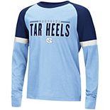 Youth Colosseum Carolina Blue North Carolina Tar Heels Ollie Long Sleeve Raglan T-Shirt