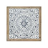 Belle Maison Medallion Framed Wall Decor