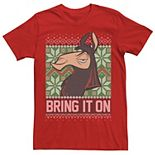 Men's Disney The Emperor's New Groove Bring It On Christmas Tee