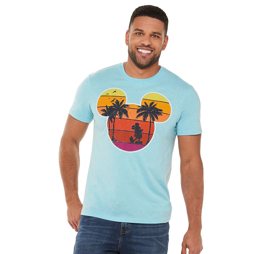 Disney's Mickey Mouse Men's Tropical Graphic Tee by Family Fun