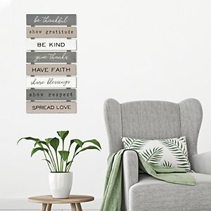 New View Gifts & Accessories Be Thankful Planked Wall Art