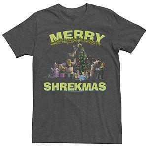 Men's Shrek Group Shot Friends Merry Shrekmas Tee