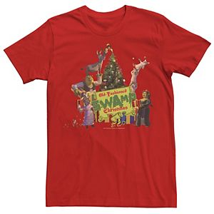 Men's Shrek Group Shot Old-Fashioned Swamp Christmas Tee