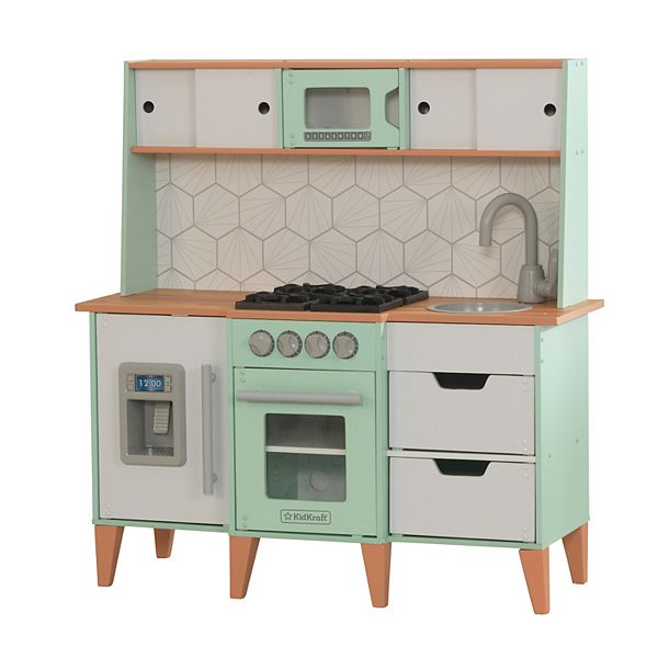 Kidkraft Mid Century Modern Play Kitchen With Ez Kraft Assembly