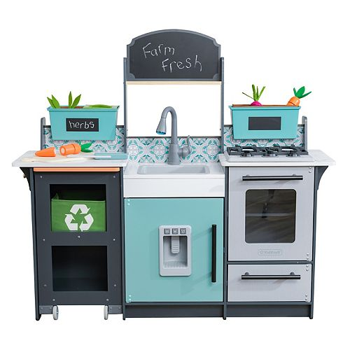KidKraft Garden Gourmet Play Kitchen with EZ Kraft Assembly