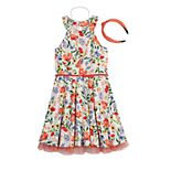 Girls 7-16 & Plus Size Knit Works Floral Halter Dress & Headband Set