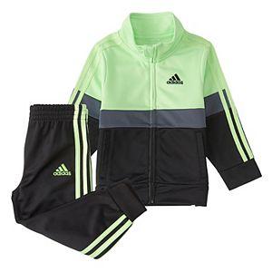 Baby Boy adidas Colorblock Varsity Jacket & Pant Set