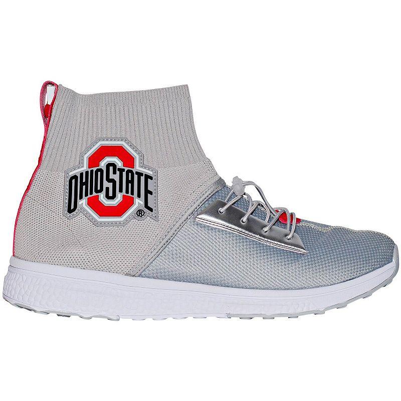 Ohio State Buckeyes D2 Rise LUMN8 Light-Up Shoes. Adult Unisex. Size: 7. Grey