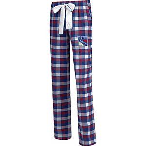 Women's Concepts Sport Blue New York Rangers Plus Size Piedmont Flannel Pants
