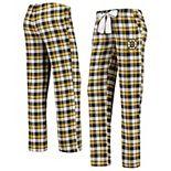 Women's Concepts Sport Black/Gold Boston Bruins Piedmont Flannel Pants
