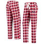 Women's Concepts Sport Red/Navy Washington Capitals Piedmont Flannel Pants