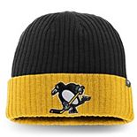 Men's Fanatics Branded Black/Gold Pittsburgh Penguins Core Alternate Logo Cuffed Knit Hat