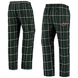 Men's Concepts Sport Green/Black Minnesota Wild Hillstone Flannel Pants
