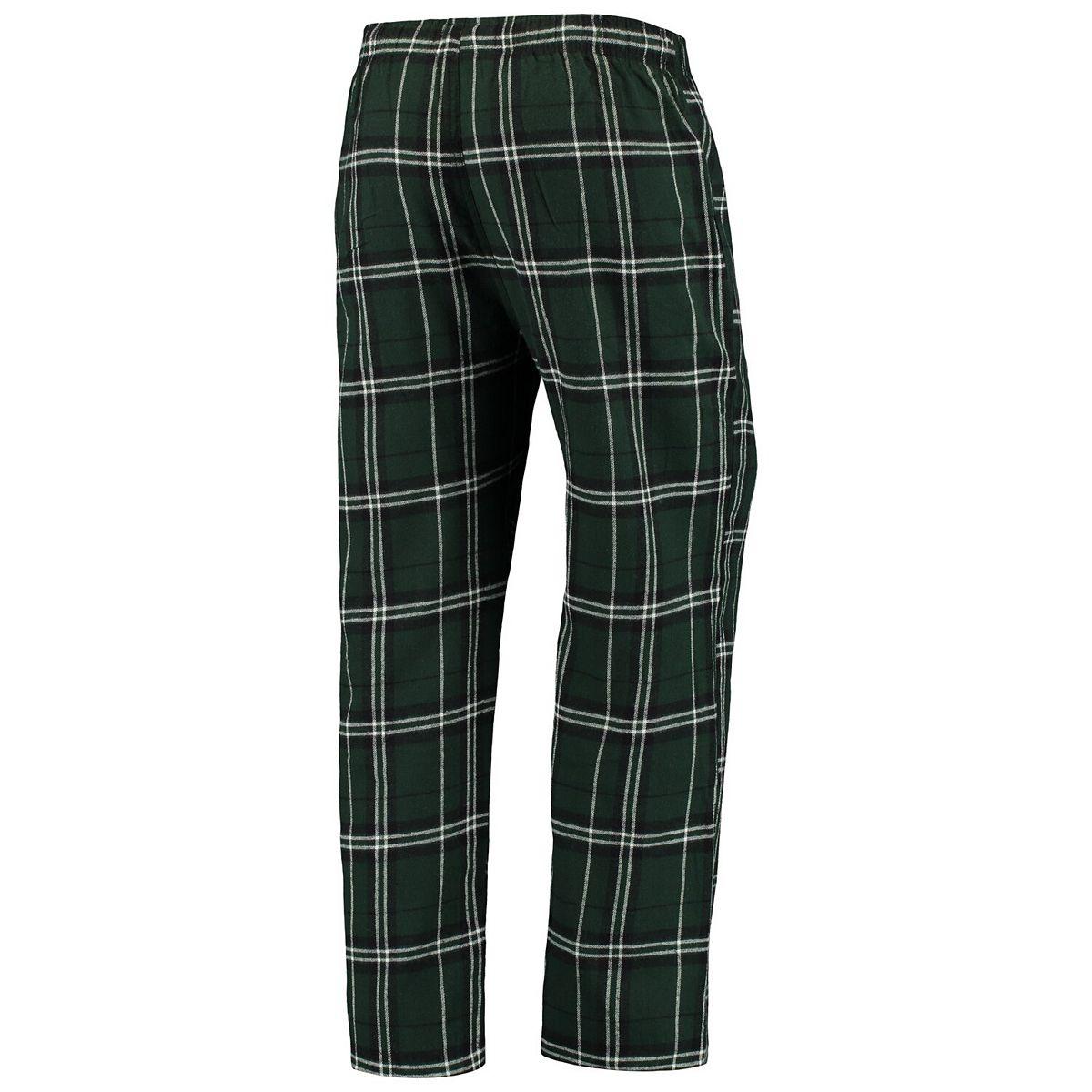 Men's Concepts Sport Green/Black Minnesota Wild Hillstone Flannel Pants qXrdy