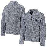 Youth Navy Dallas Cowboys Caine Sherpa Quarter-Zip Pullover Jacket