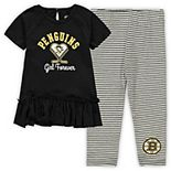 Girls Toddler Black/Gray Pittsburgh Penguins Fly on Ice Hoodie Top & Leggings Set