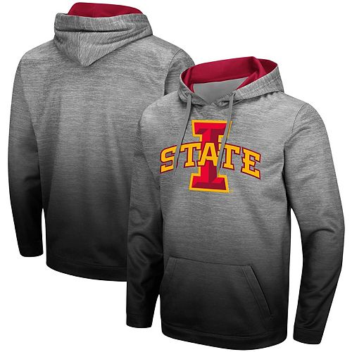 Men's Colosseum Heathered Gray/Cardinal Iowa State Cyclones Sitwell Sublimated Pullover Hoodie by Colosseum