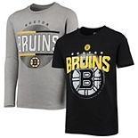 Youth Black/Gray Boston Bruins Evolution Two-Piece T-Shirt Set