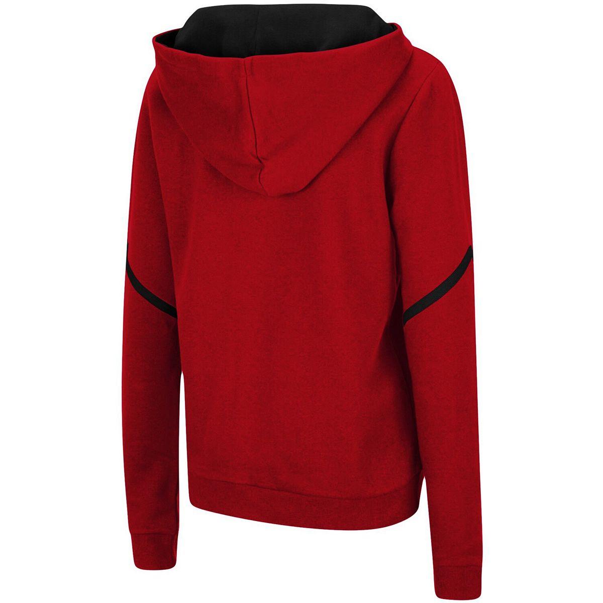 Women's Colosseum Scarlet Nebraska Cornhuskers Maeby Lace-up Pullover Hoodie JCwD8