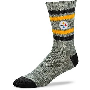 Women's For Bare Feet Pittsburgh Steelers Alpine Tweed Crew Socks