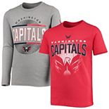 Youth Red/Gray Washington Capitals Evolution Two-Piece T-Shirt Set